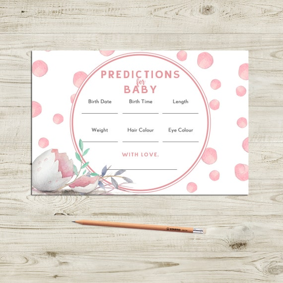 photo regarding Printable Baby Nest Pattern referred to as Kid Shower Child Prediction Playing cards