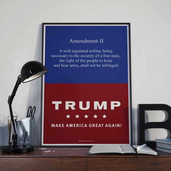 Right to Bear Arms Fine Art Poster Trump 2nd Amendment Patriotic America Giclee