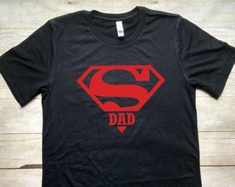 6ef73765 Super Dad Shirt, Daddy Shirt, Fathers Day Gift, Shirt for Dad