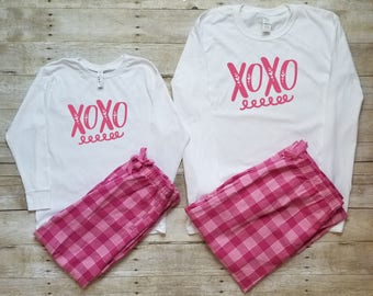 002f514872fd7 Pajamas for women - Valentines Day - Family Pajamas - Mommy and Me Pajamas  - Mom and Daughter Matching Outfits - Cute Pajamas - Mom and baby