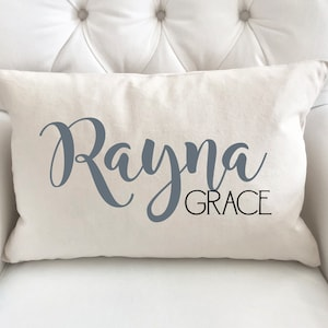 Baby Girl Gift Personalized Baby Pillow Baby Shower Gift New Baby Gift Nursery Pillow Name Pillow