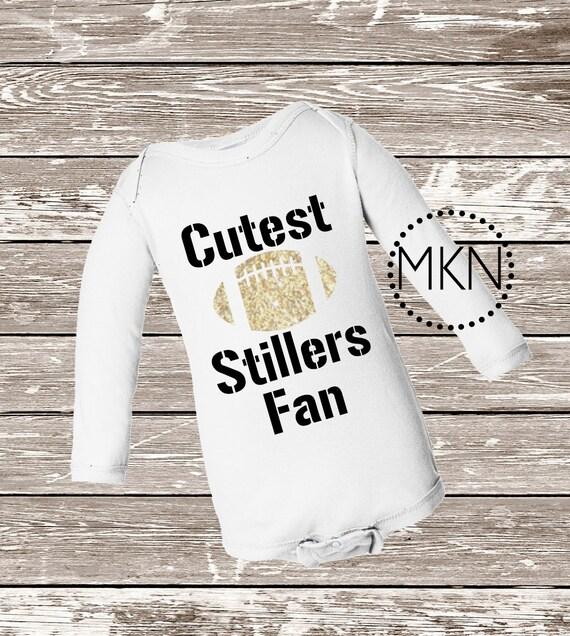 6196b5ec5 Cutest Stillers Fan Steelers Bodysuit Baby Steelers Shirt