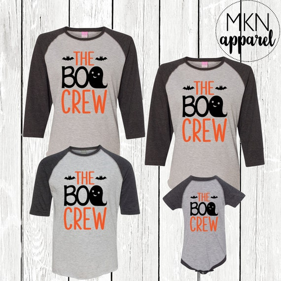 the boo crew family halloween shirts ghost shirts cute etsy