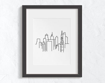 SEPTA Art Philly Drawing Philly Print Philly Gift Funny Philly Artwork Philadelphia Art We/'re Getting There Small Philly Art