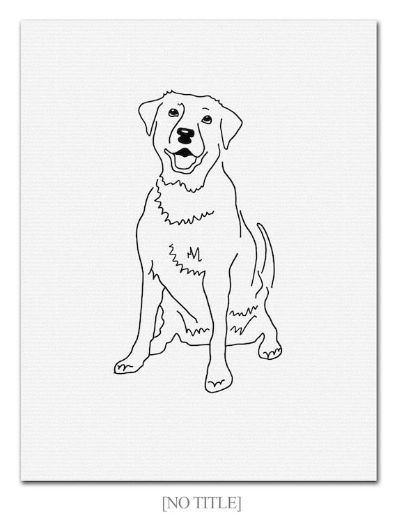 Simple Art Drawing Dog