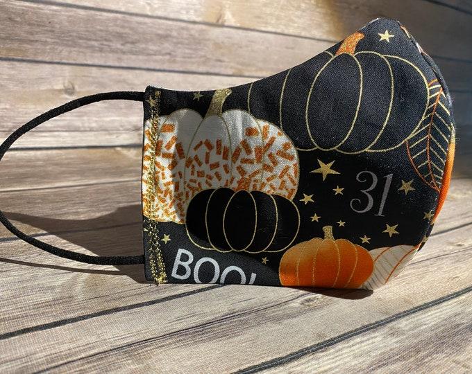 Pumpkins Reversible Face Mask - Made to Order
