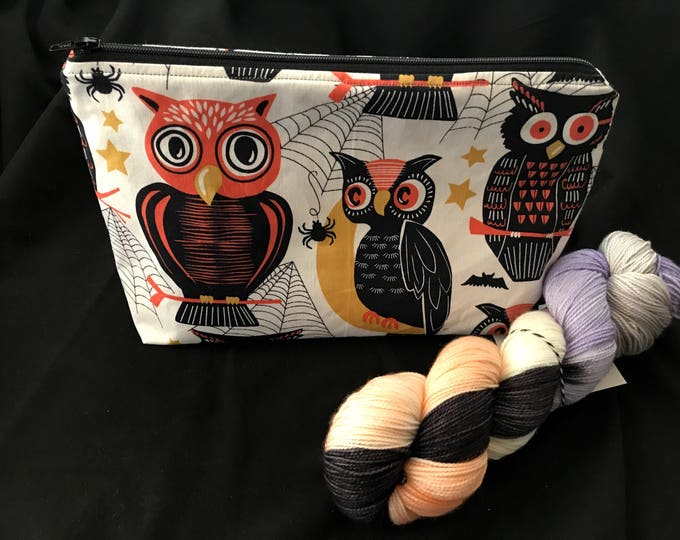 Harvest Owls - Made to Order Wedge Style Zippered Bag