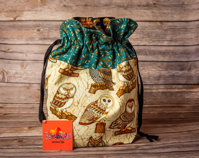 Drawstring Bag - Owls
