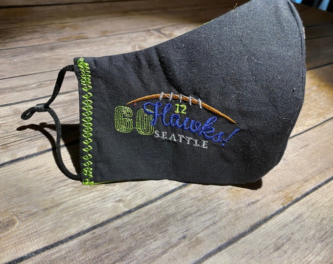 Reversible Seahawks Face Mask - Made to Order