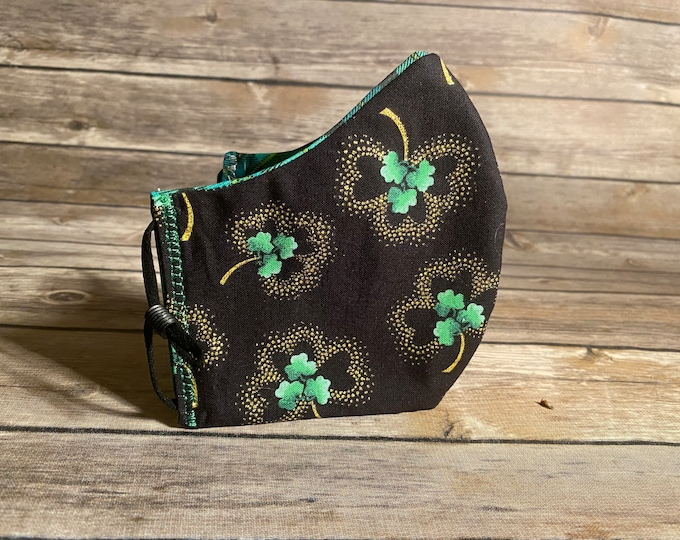 St. Patty's Day Reversible Face Mask - Made to Order