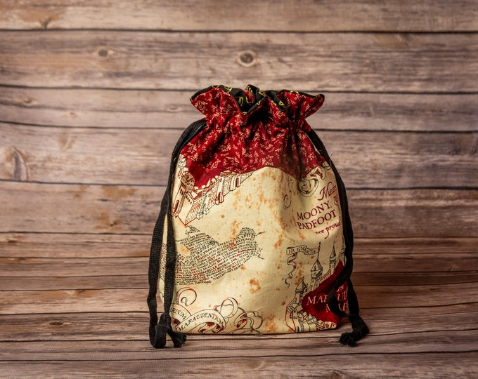 Drawstring Bag - Marauders Map Harry Potter
