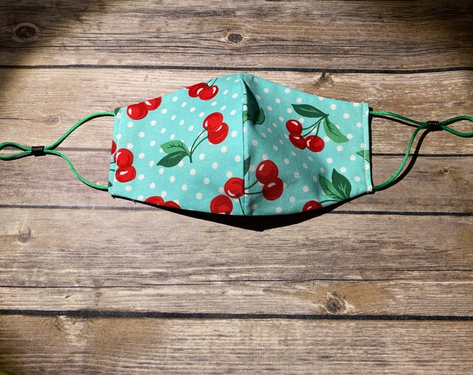 Reversible Face Mask - Cherry Dots