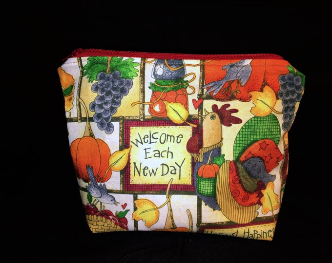 Sale Made to Order Knitting Project Bag - Giving Thanks