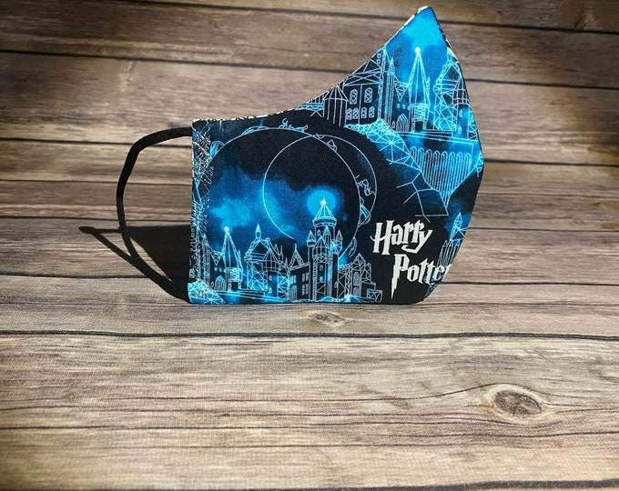 Harry Potter Reversible Face Mask & Matching Bag - Made to Order