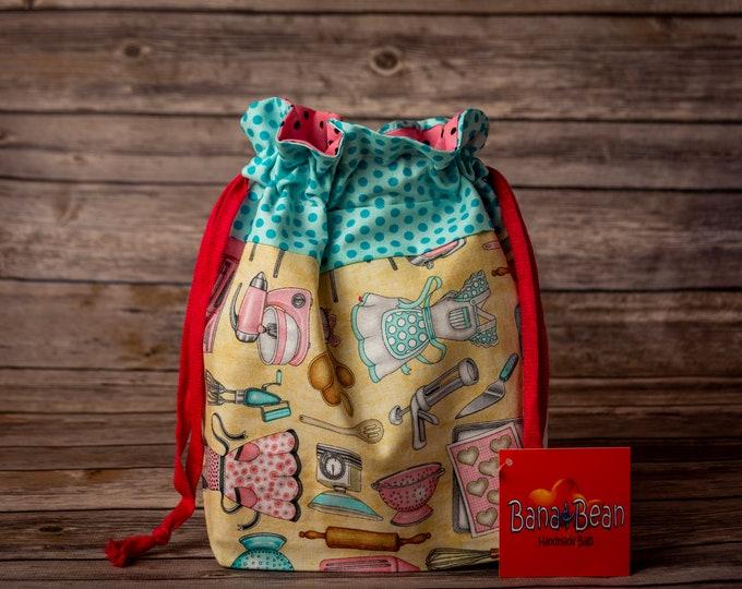 Drawstring Bag - Retro Kitchen