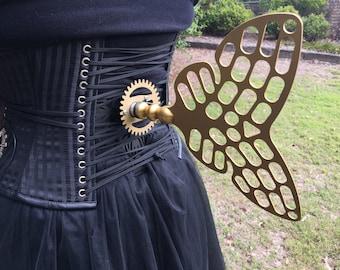 Steampunk Butterfly Clockwork Windup Key (Motorised)