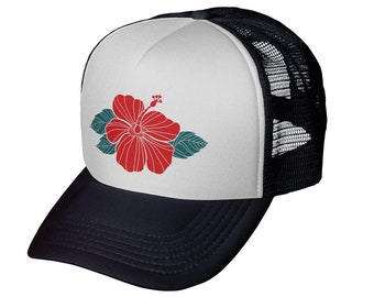 new style 2f7d6 01fd6 Hibiscus Trucker Hat