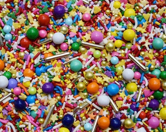 Edible Sprinkles - At the end of the rainbow Sprinkle Mix