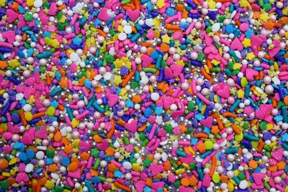 Pink Jumbo Round Edible Cupcake /& Cake Sprinkles 8 oz White Red