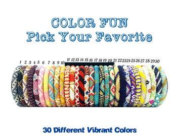 Dark Blue Colors Pattern Nepal Bracelets Seed Beads Bracelets Pick your Favorite One