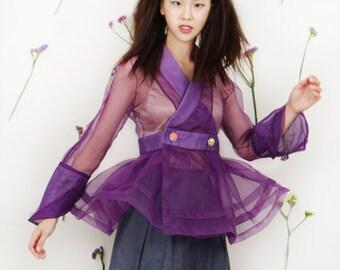See-through cheollik jacket (purple)