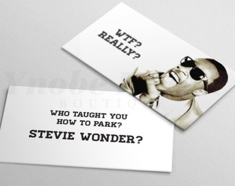 Bad parking cards etsy wtf really stevie wonder bad parking gag gift parking card funny stocking stuffer set of 20 cards yec00002 colourmoves