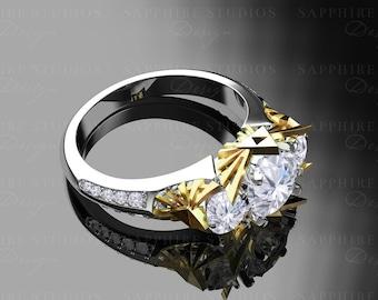 Sacred - Triforce Inspired Zelda Trio Engagement Ring