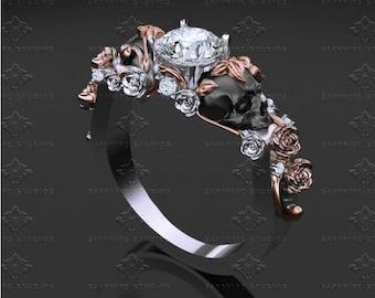 St. Ivy Skull Engagement Ring