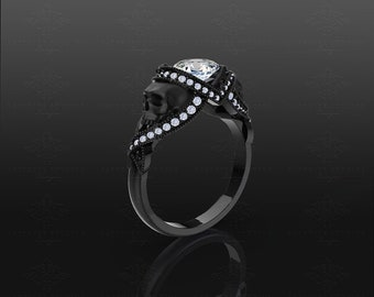 St. Noir - Sterling Silver Skull Ring – Choose your metal