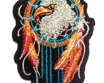 weiß Indianischer Stern Logo 8.5 x 10.2 cm Aufnäher // Bügelbild