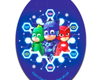 6,7 x 6,7 cm PJ MASKS GEKKO 2 Disney Iron on patches green Application E