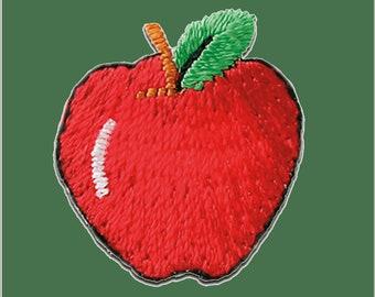 Patches Aufbügeln Apfel Obst Frucht Aufnäher // Bügelbild rot 2,2x2cm