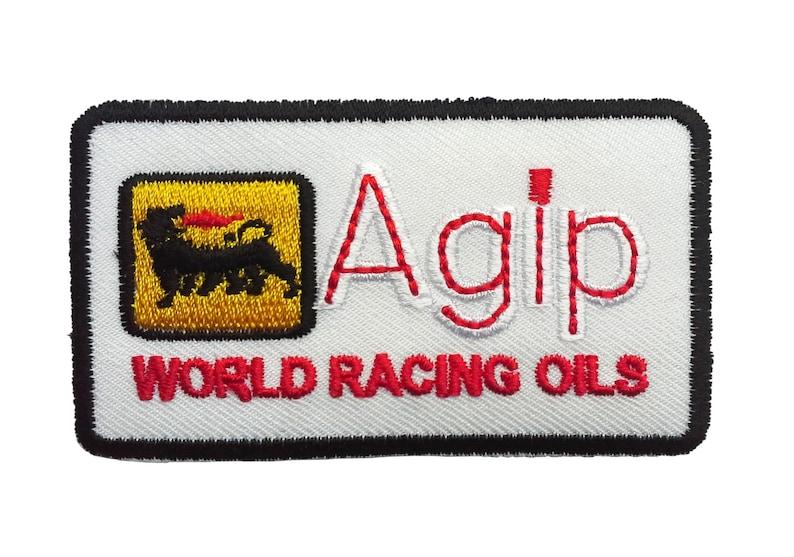 Auto Racing Fan Aufnäher Elf Oil  10 x 4  cm