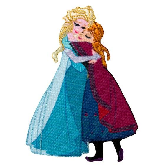 Aufnäher Disney Frozen Die Eiskönigin Elsa Comic Bügelbild 9x7,5cm blau