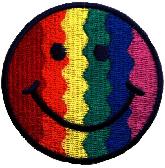 Peace Iron on patches Ø7.7cm Application Embroided badges colorful