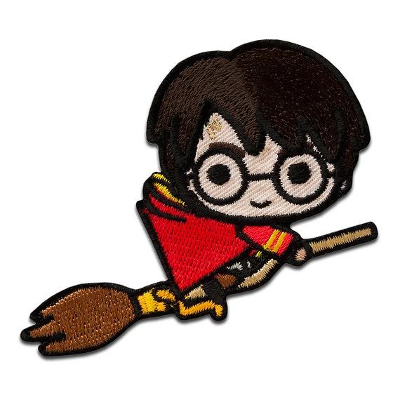 Harry Potter C Auf Dem Besen Aufnaher Bugelbild Etsy