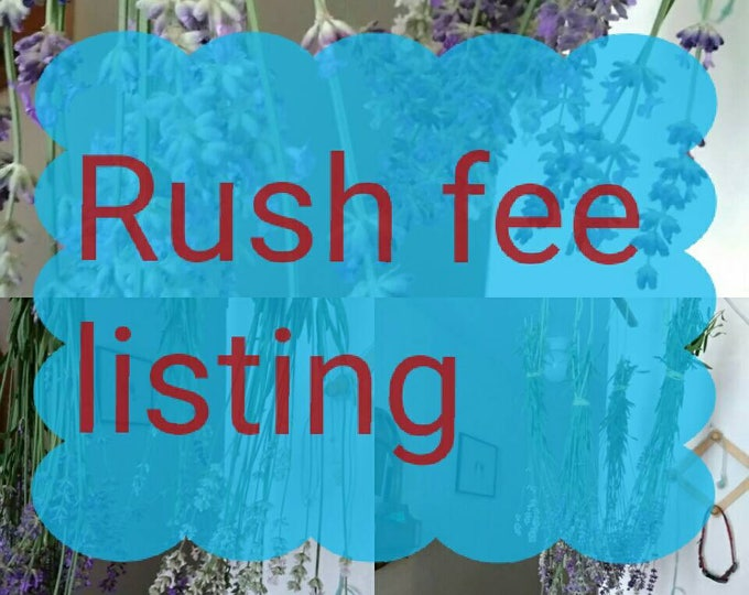 Rush fee listing, need this yesterday, i forgot to buy this, it will ruin my party not to get this, my lack of planning is your emergency