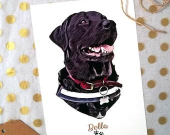 Custom Dog Portrait, Pet Portrait, For Dog Mom, Custom Portrait, For Pet Lovers, For Dog Lovers, Printable Portrait, Digital Portrait