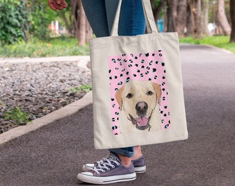 Tote Bag with your Pet, Pet Tote, Pet Printed Bag, Custom Tote Bag, For Pet Lovers, For Dog Lovers, Personalised Tote Bag