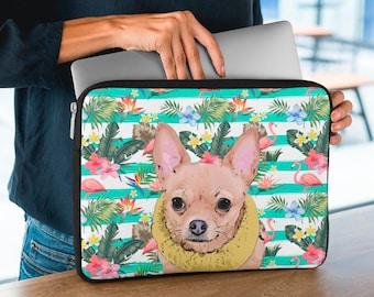 Custom Pet Laptop Sleeve, Custom Pet Portrait, Printed laptop case, Your Dog on a custom Laptop Sleeve, University Gift, Gift for Dog Mum