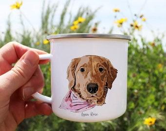 Dog Mug Personalized, Camper Dog Mug, Dog Dad Gift, Pet Custom Mug, Portrait Mug, Dog Mum Mug, Dog Dad Mug, Dog Portrait, Pet Lovers Gift
