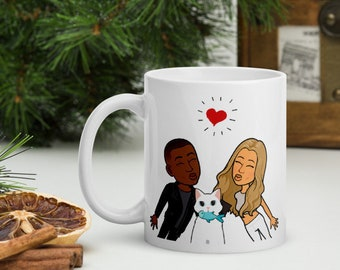Personalised Pet Mug, Anniversary gift, Home is where we are, Couples gift, gift for boyfriend, gift for girlfriend, gift for wife