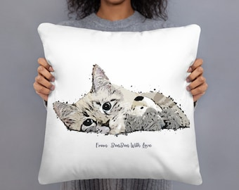 Custom cat pillow | Etsy