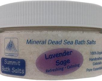 Lavender Sage Bath Salts (8oz)