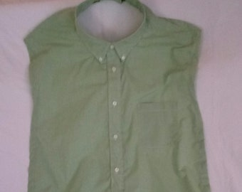 Clothing Protector - Light Green / white