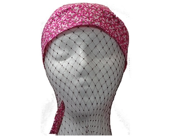Do-Rag Head Cover - Pink Flowers