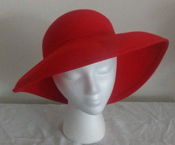 Women s Red Wool Fedora Hat  9dbc2a95ab1