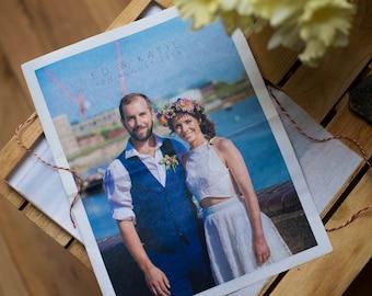 First 'Paper' Wedding Anniversary Newspaper