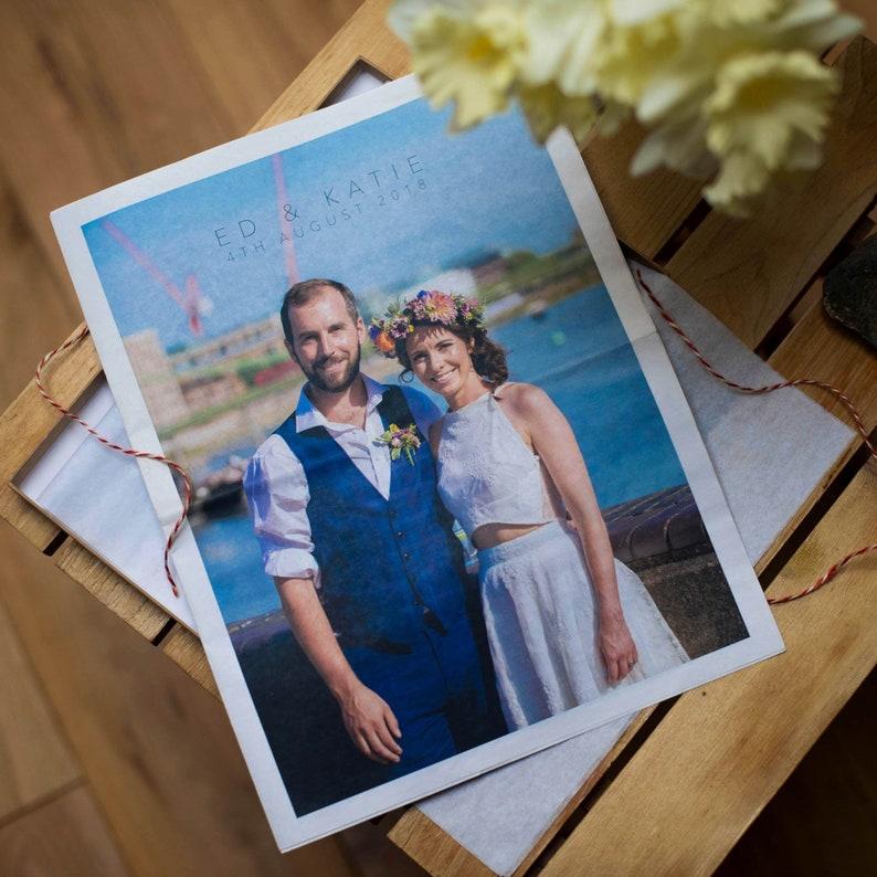 First 'Paper' Wedding Anniversary Newspaper image 0