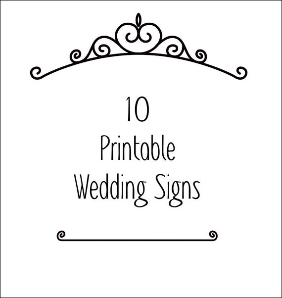 photograph relating to Wedding Signs Printable known as 10 black and white Wedding ceremony Signs or symptoms - Well known Wedding day Signs and symptoms - Printable Wedding ceremony symptoms - Wedding ceremony - electronic down load - pdf down load - printable
